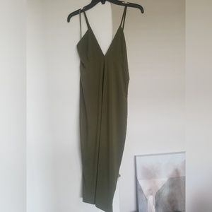 Carrie Woven Dress in Olive